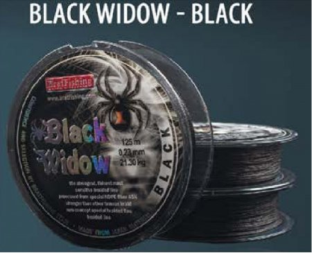 ШНУР BLACK WIDOW BLACK (черный) 125m